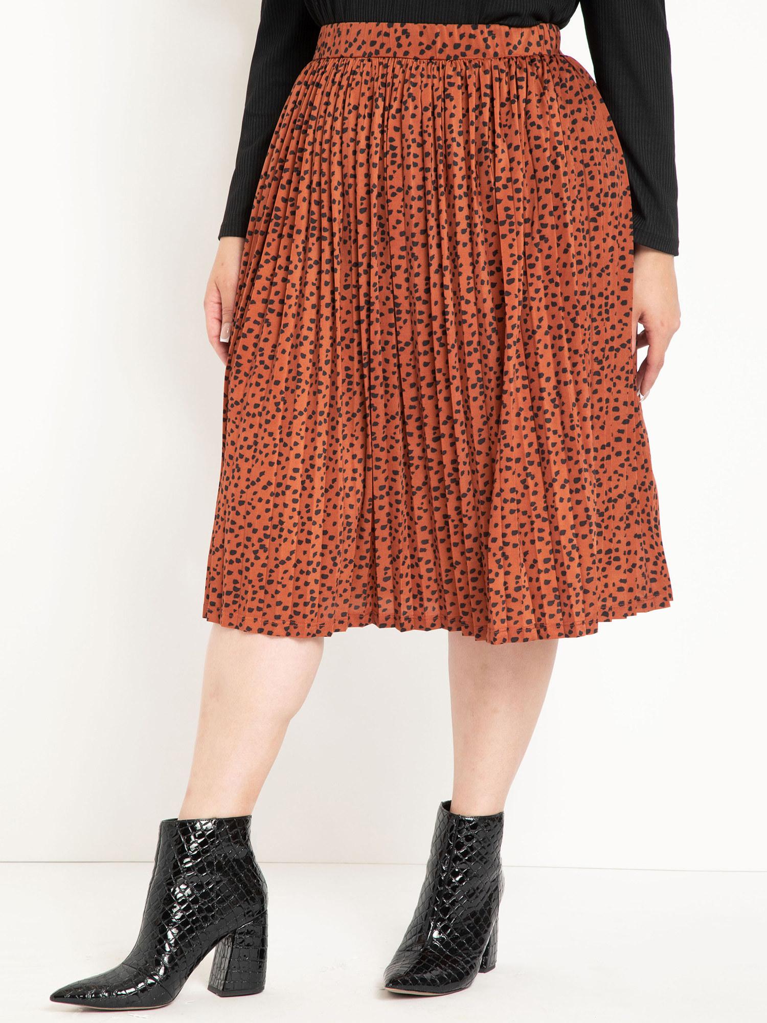 The orange skirt