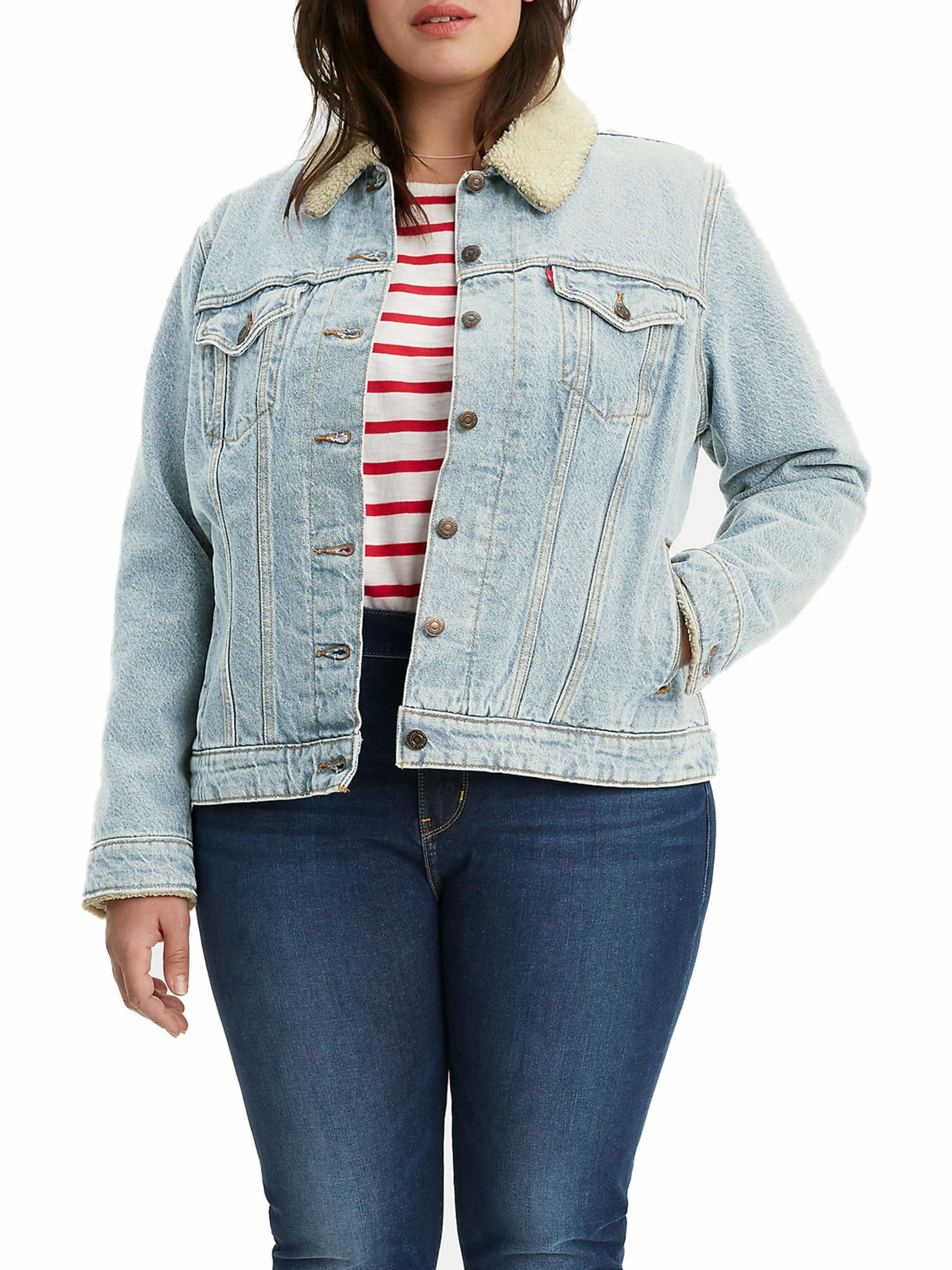 The sherpa lined jean jacket