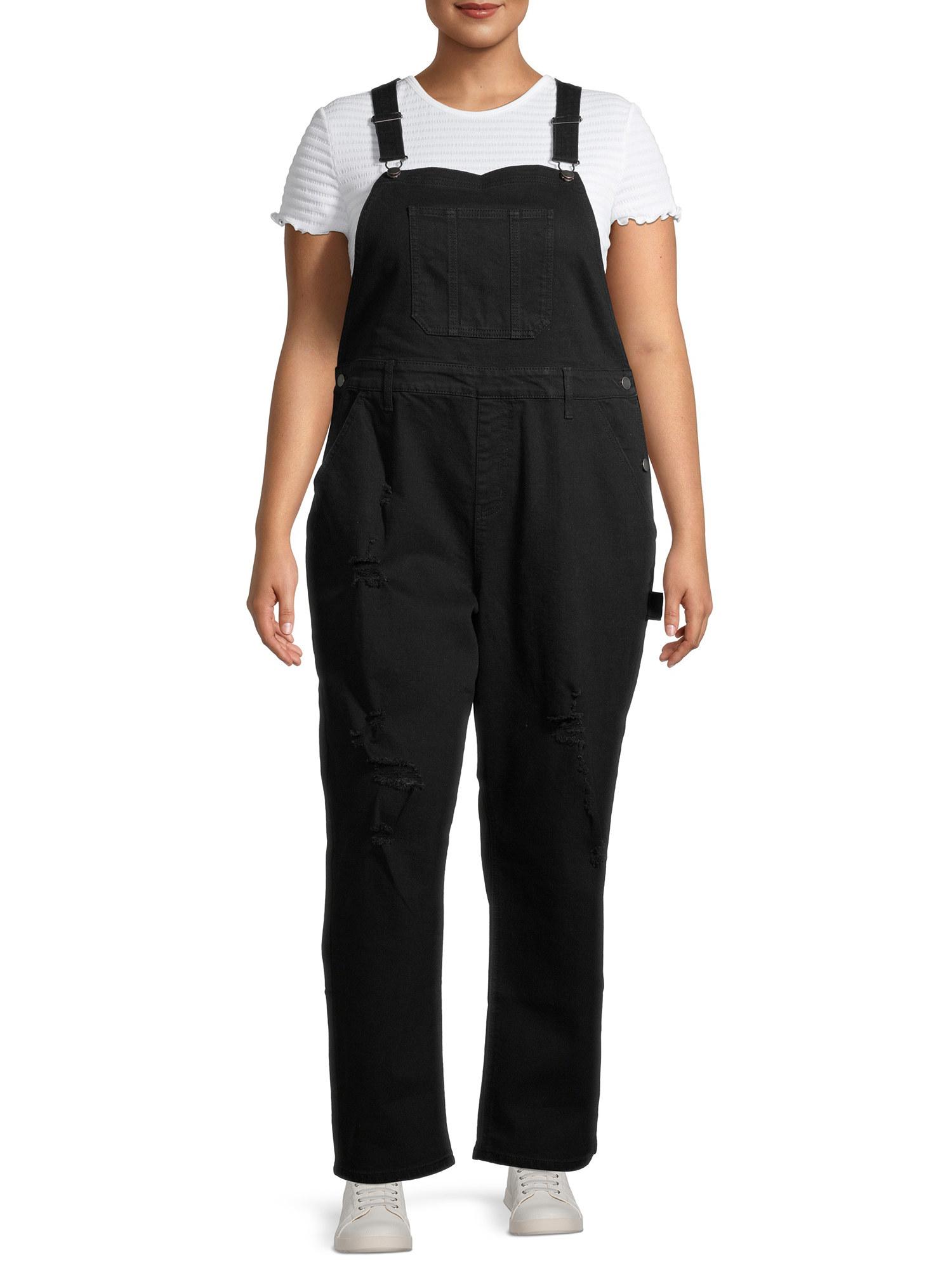 The black overalls