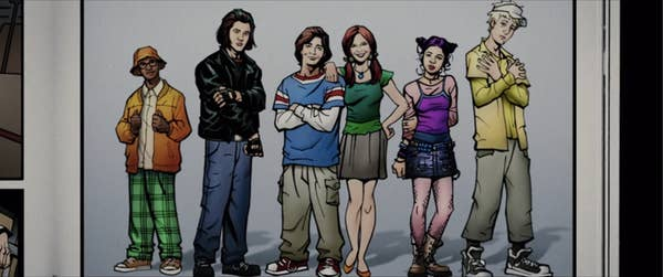 Cartoon of Sky High characters
