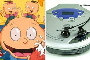 The Rugrats intro and a discman