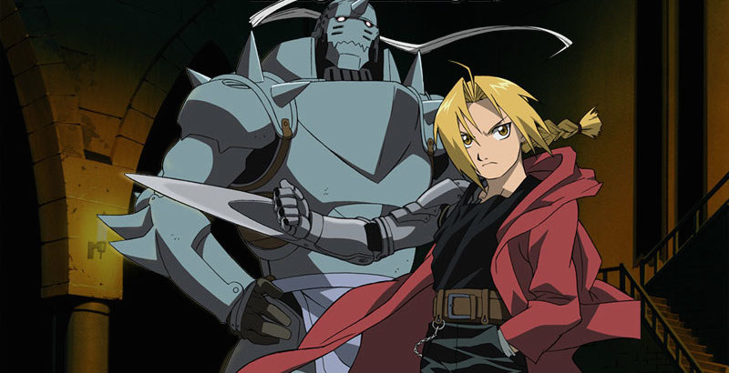 Edward and Alphone Elric standing beside each other