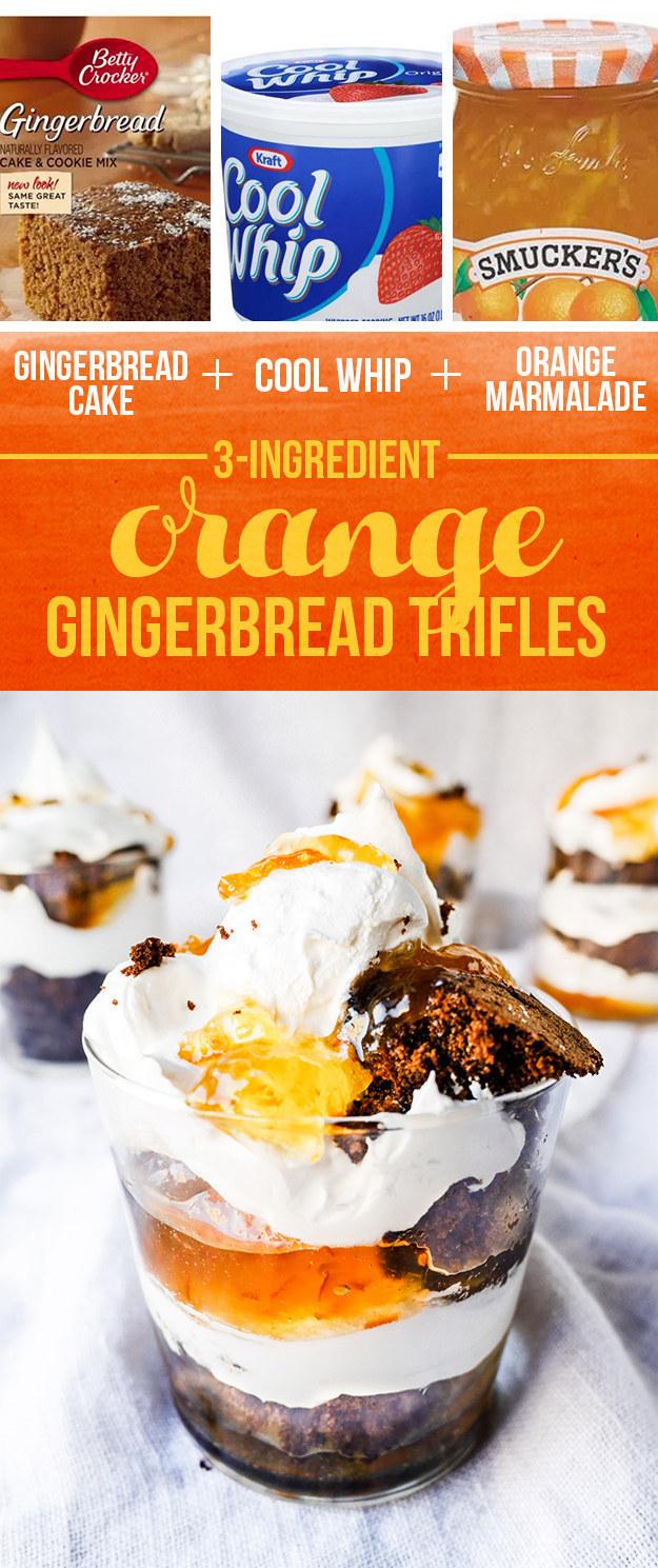 Orange Gingerbread Trifles