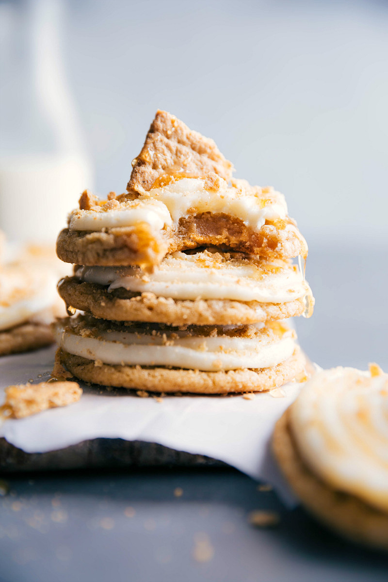Frosted honey graham cookies