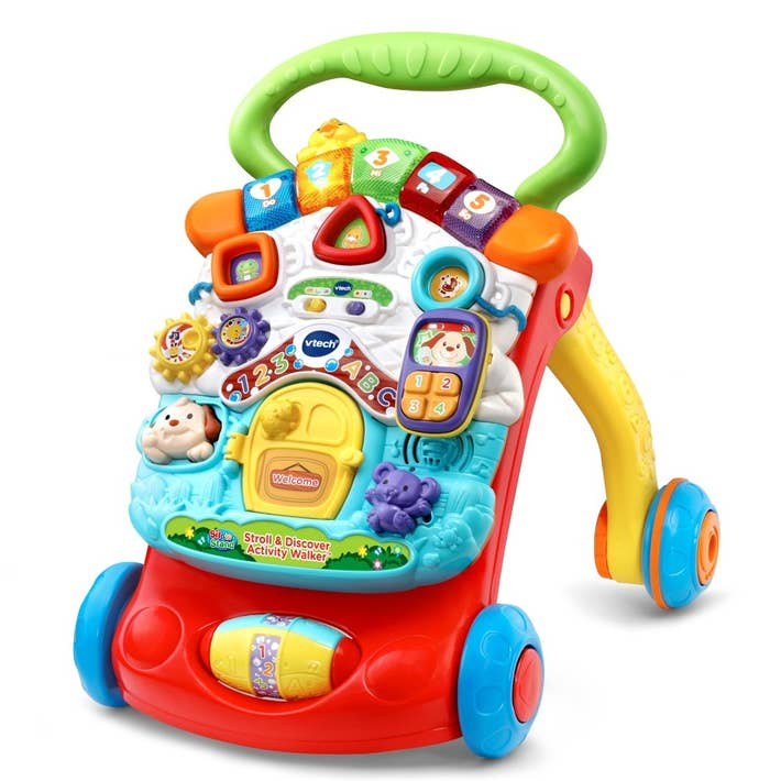 The activity walker with lots of  toys
