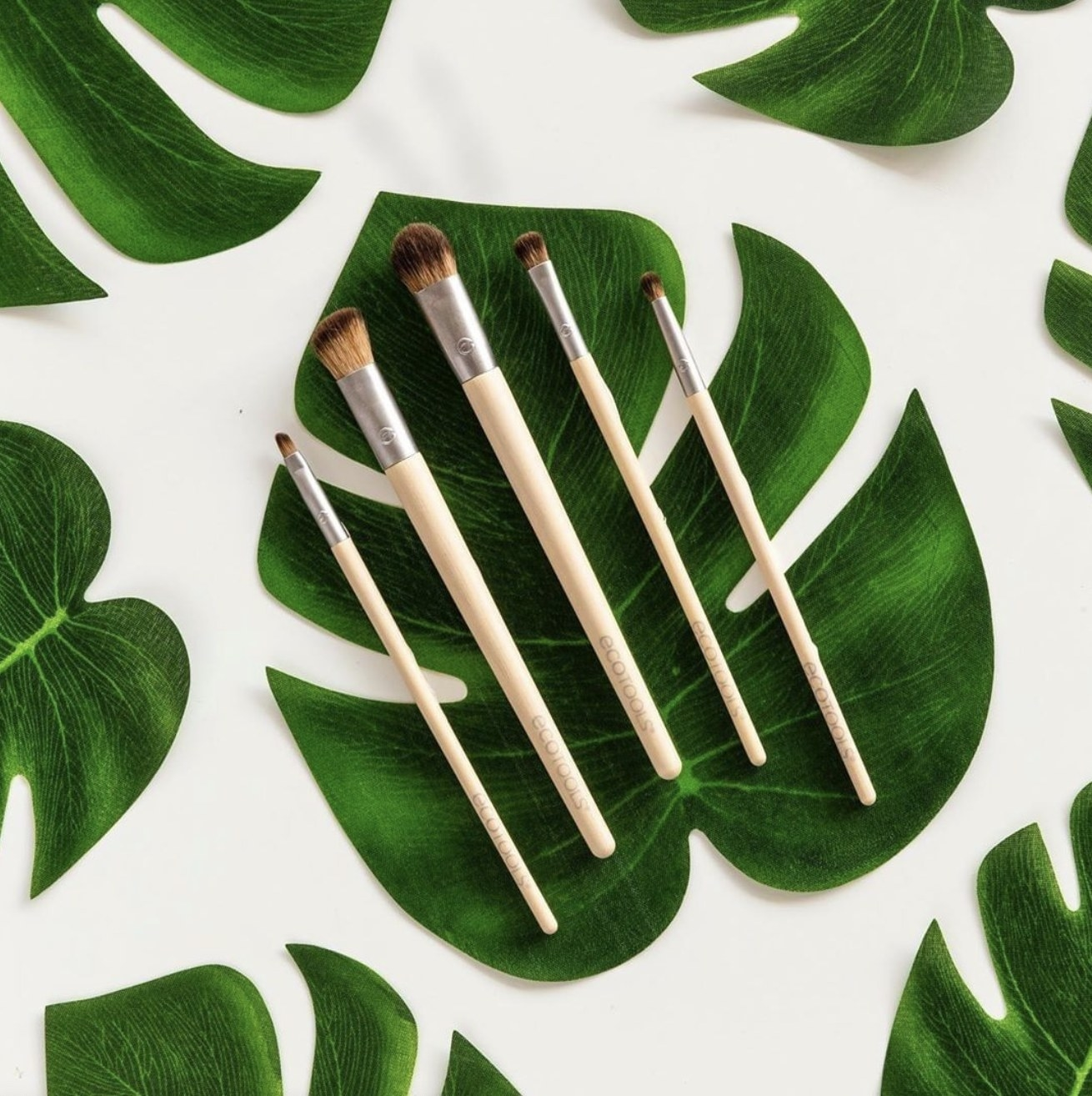 The five ecotools eye makeup brushes