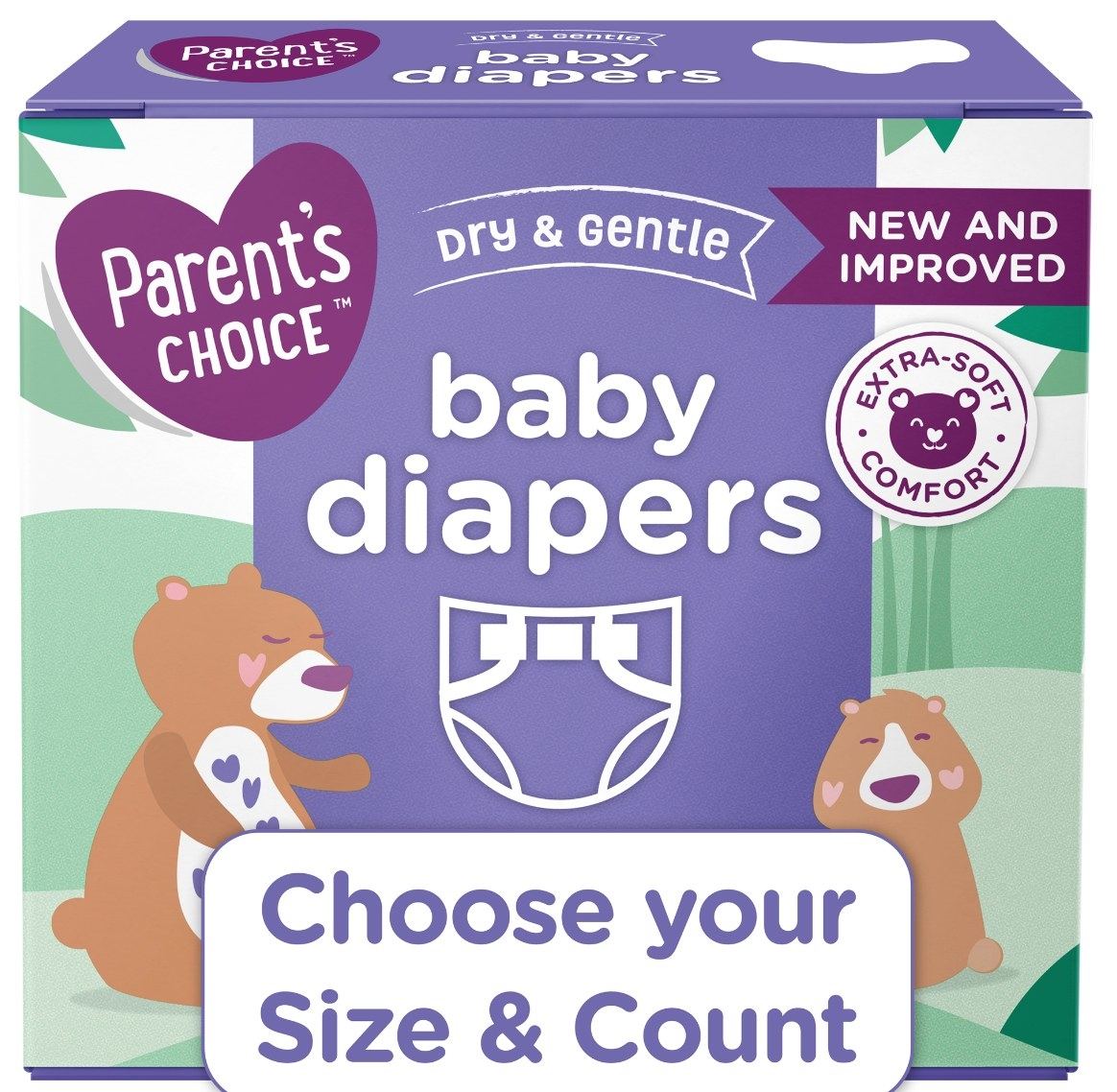 The set of baby diapers in size 3