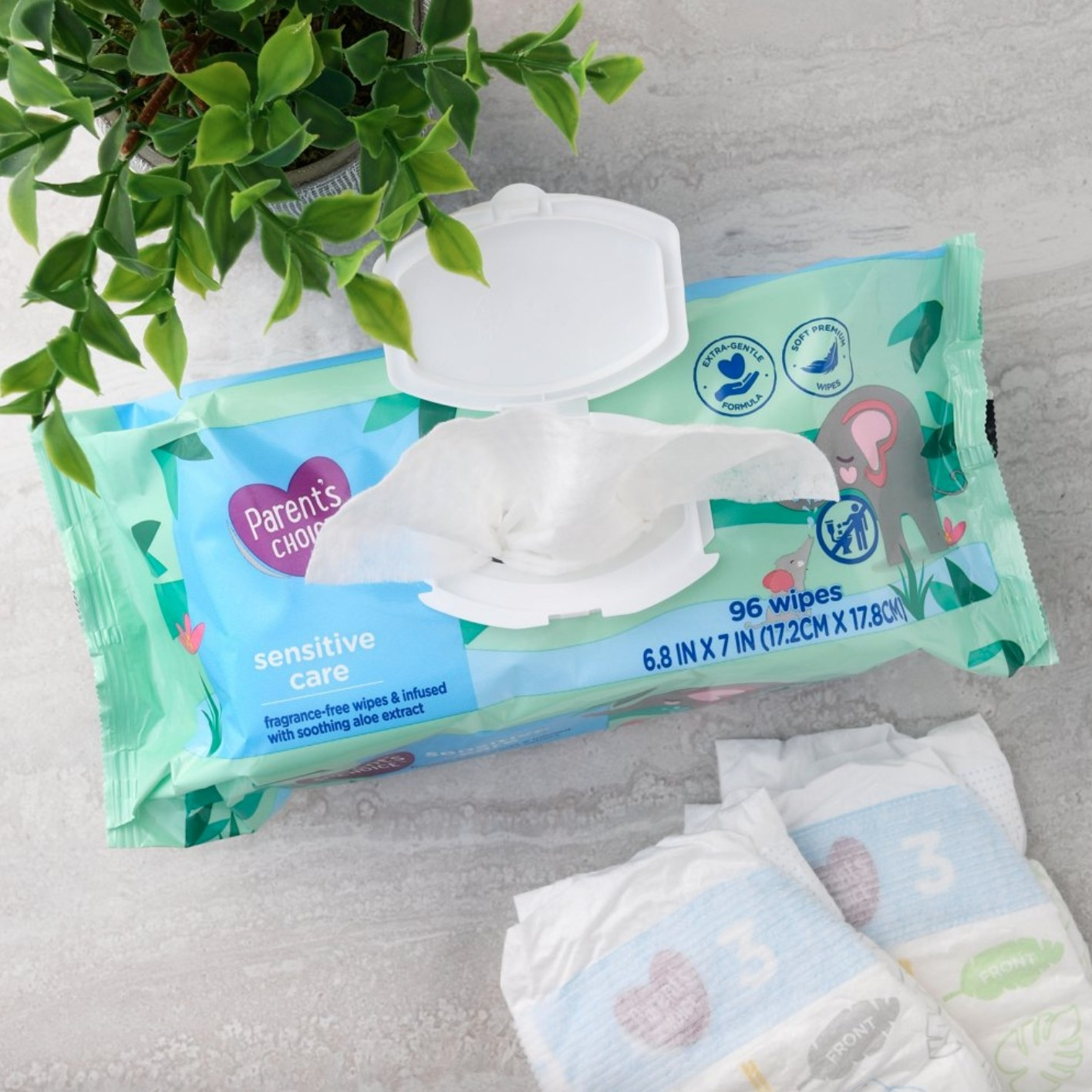 The soothing aloe baby wipes