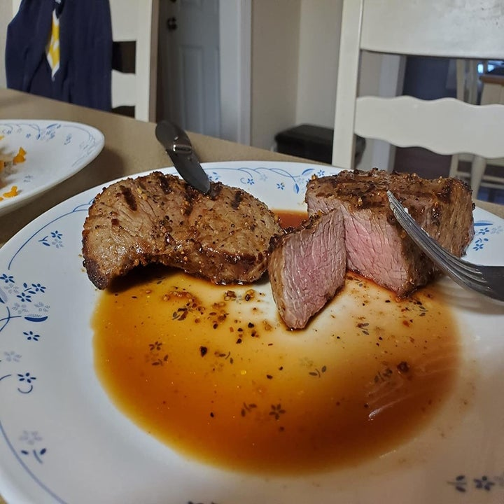 reviewer image of roast beef made with the ninja foodie