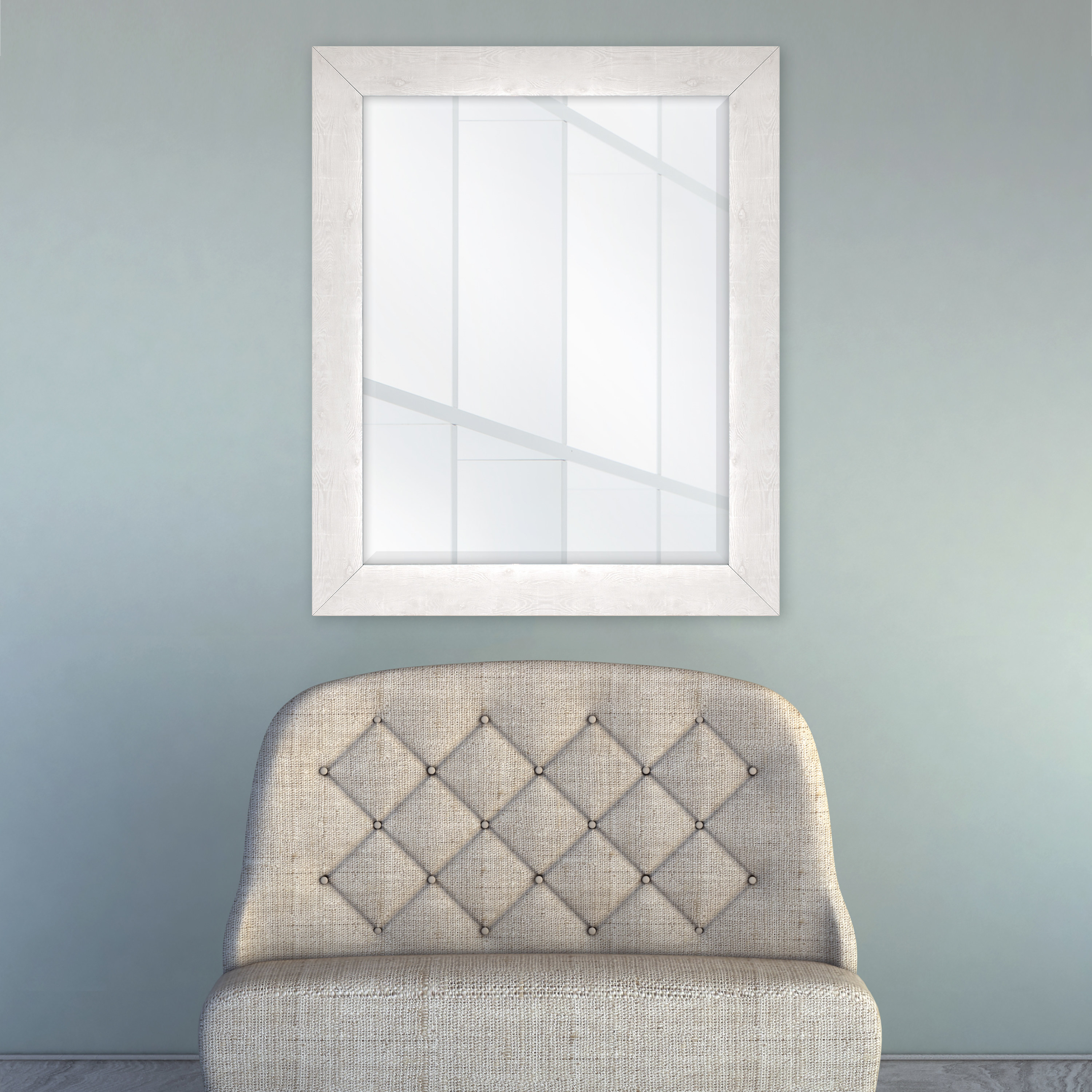 A wall mirror in a home