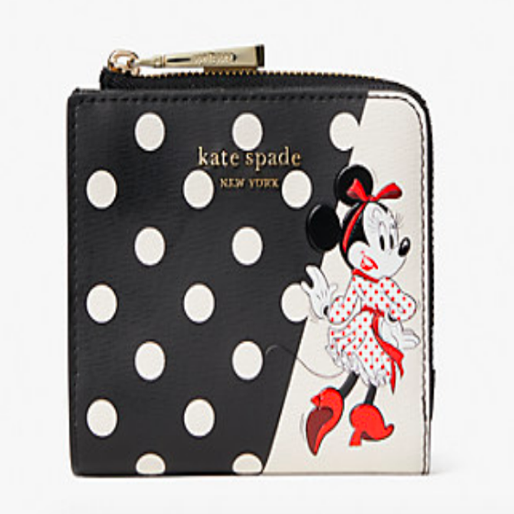 Polka dot wallet with Minnie Mouse