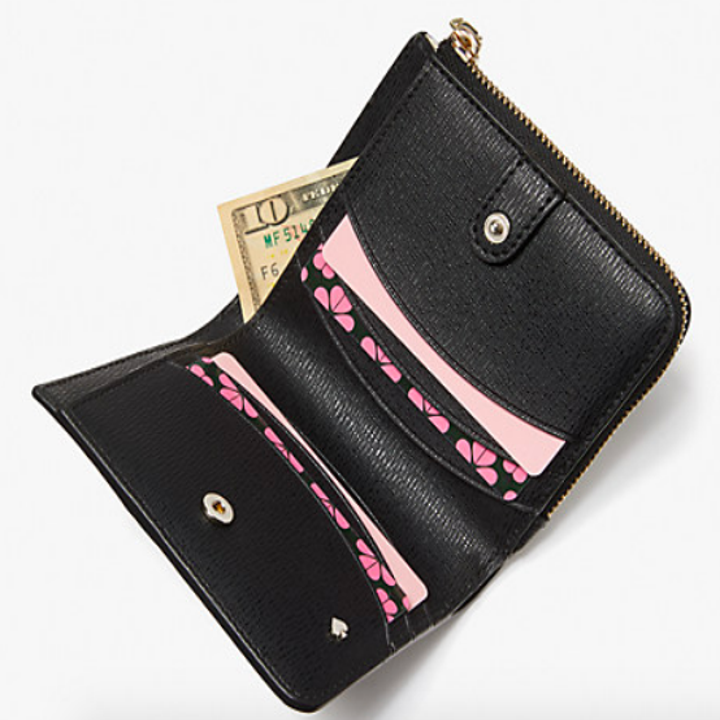 Wallet with card pockets, change pockets, and a cash fold