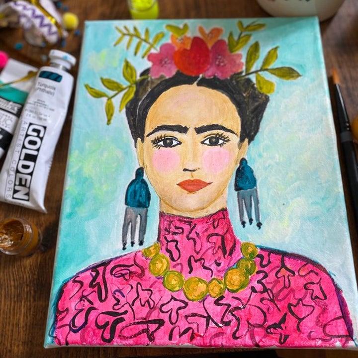 finished piece of Frida Kahlo art work