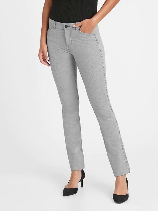 Model wearing the pants