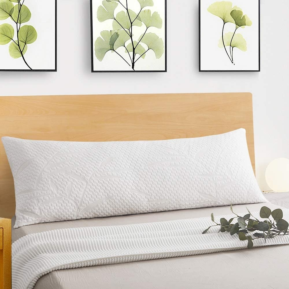 The body pillow with the white bamboo cover