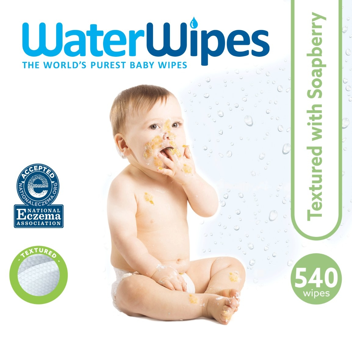 The set of textured wipes