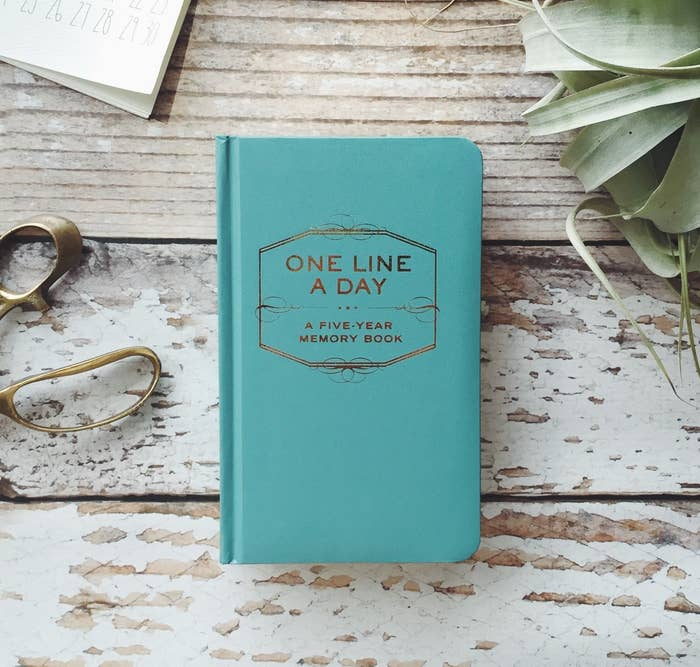 the journal that says one line a day a five-year memory book
