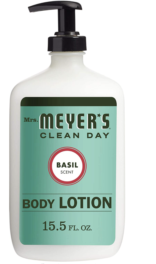 body lotion in basil scent