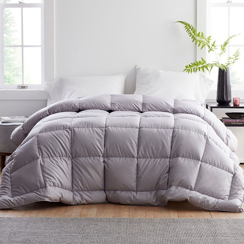 the platinum primaloft down alternative comforter on a bed