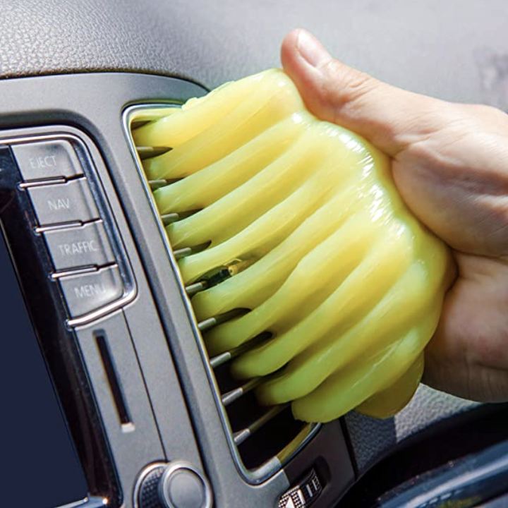 cleaning car vent with gel