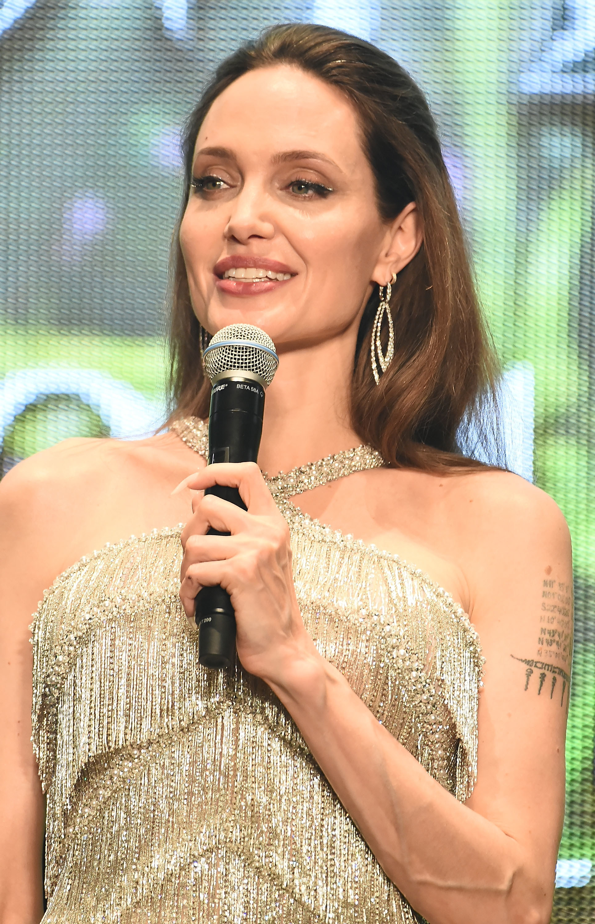 Angelina Jolie attends the Japan premiere of 'Maleficent: Mistress of Evil' at Roppongi Hills arena on October 3, 2019 in Tokyo, Japan