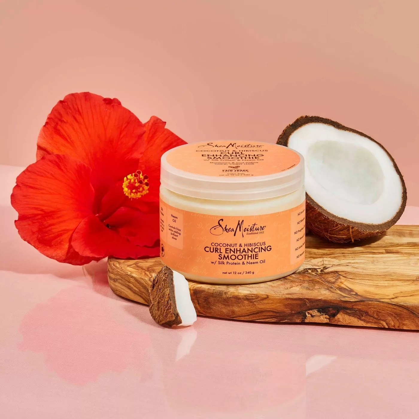 SheaMoisture Coconut & Hibiscus Curl Enhancing Smoothie with Silk Protein and Neem Oil