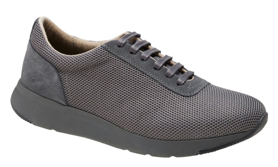 Front view of Garey knit sneaker in the shade gray