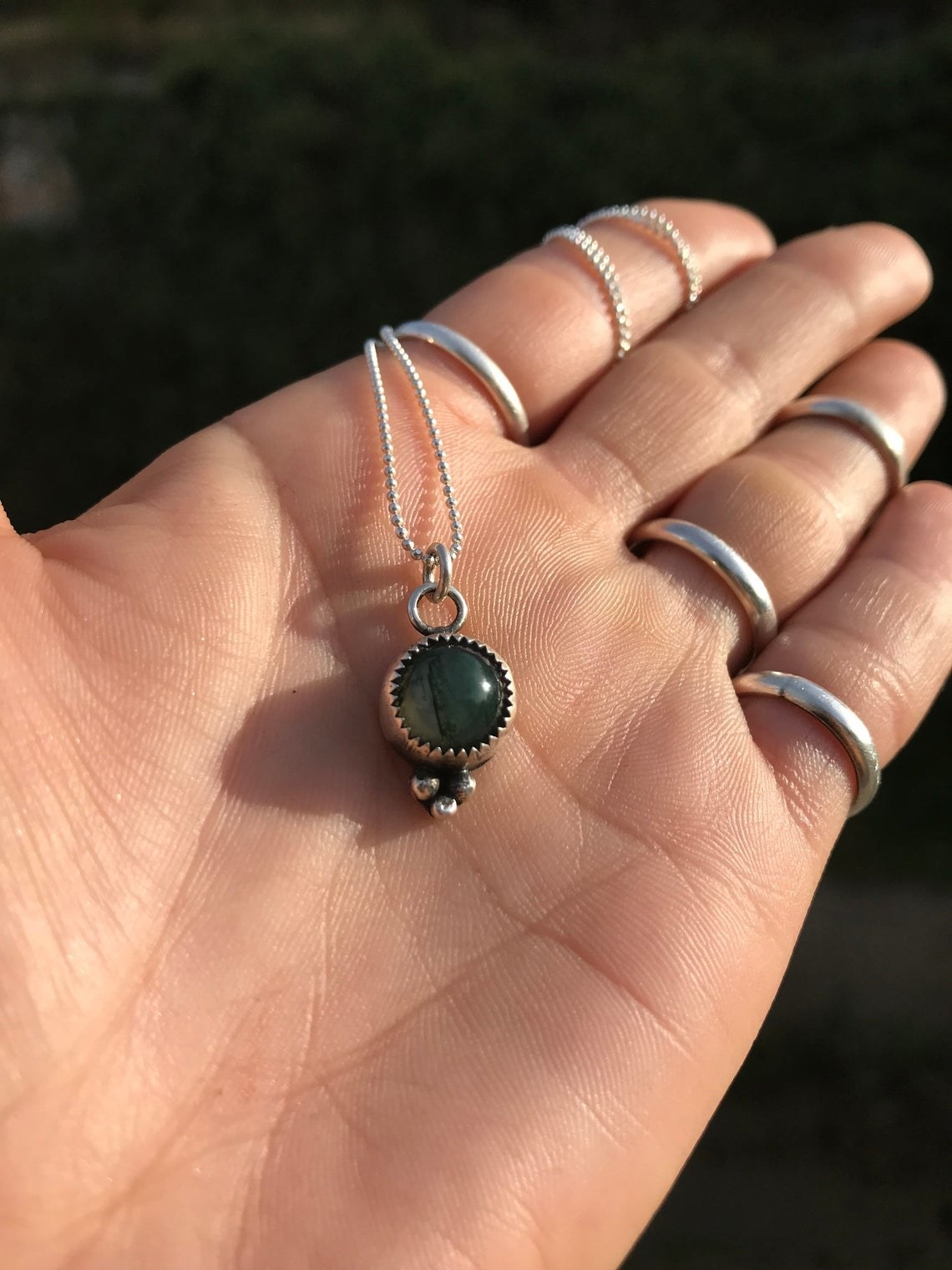 The mini-charm necklace