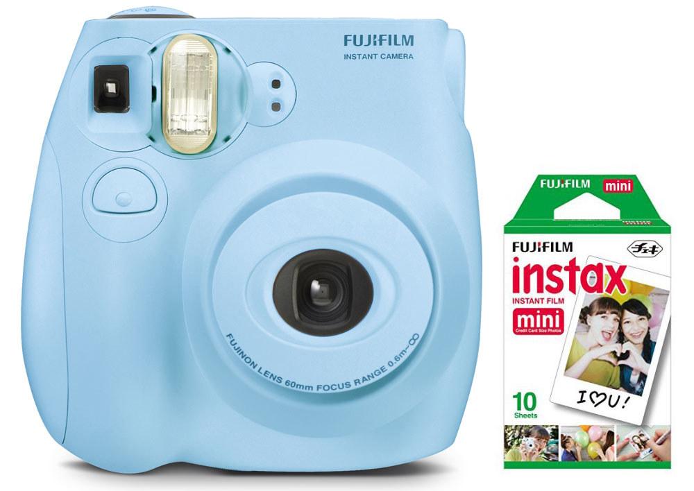 The light blue camera