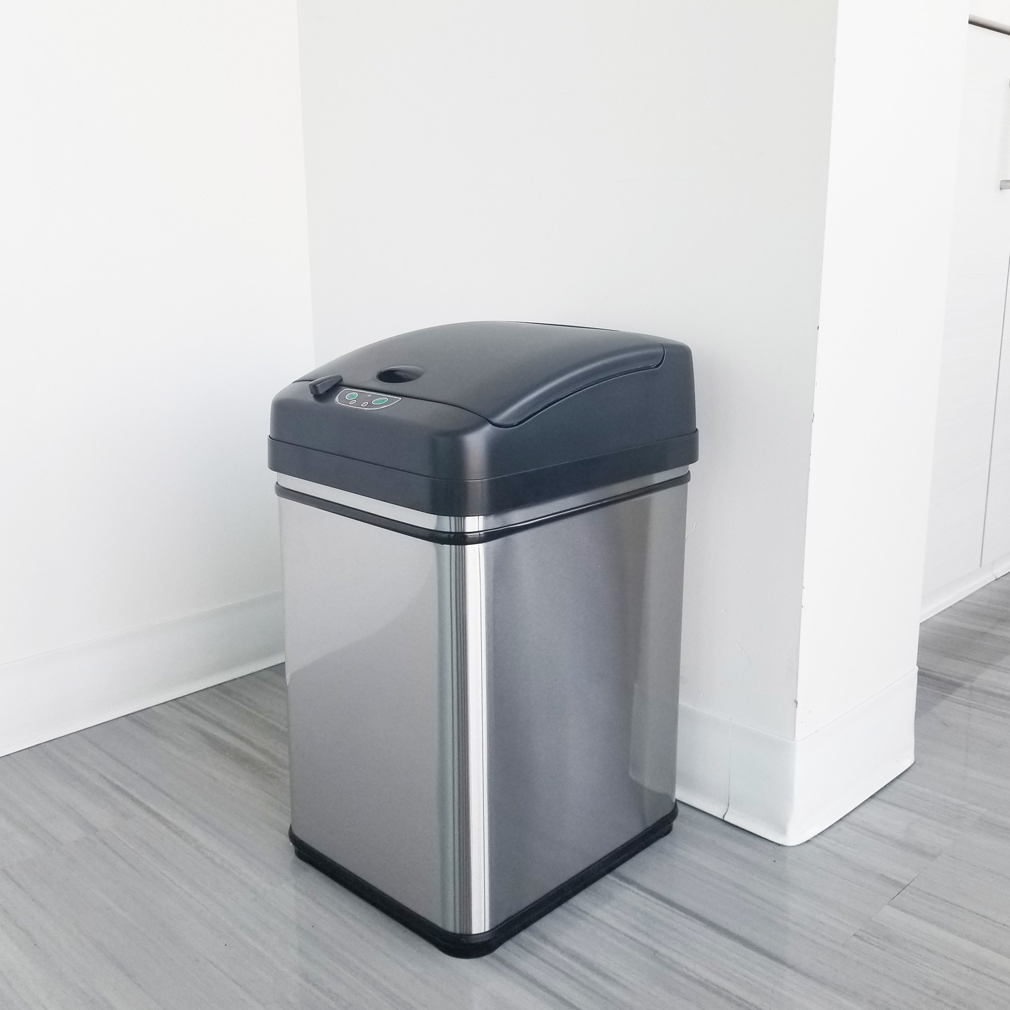 The trash can