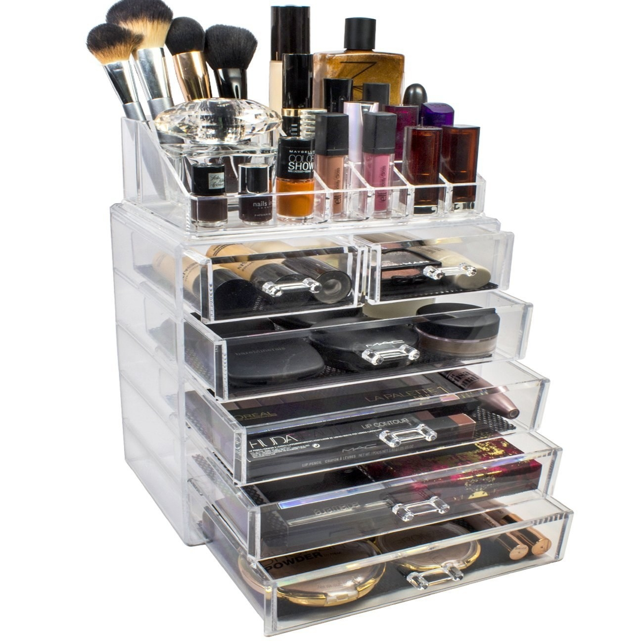 The cosmetic and jewelry storage case