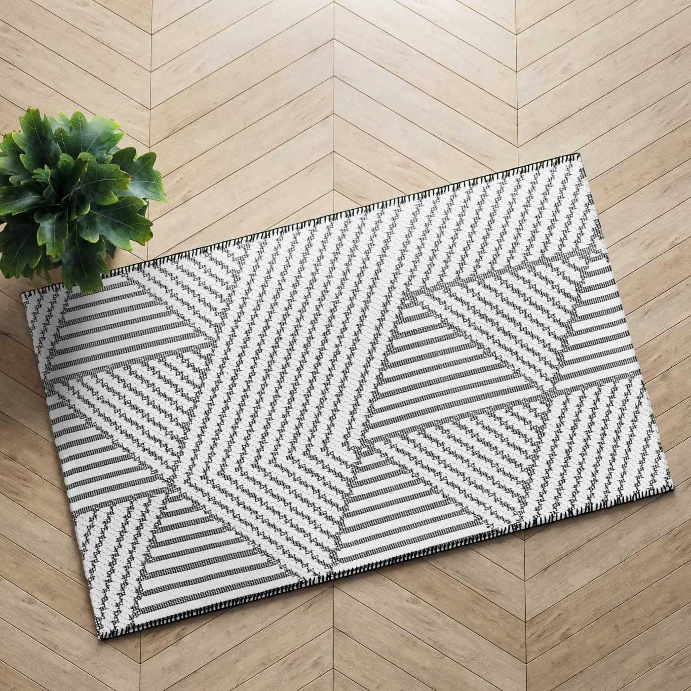The patterned rug