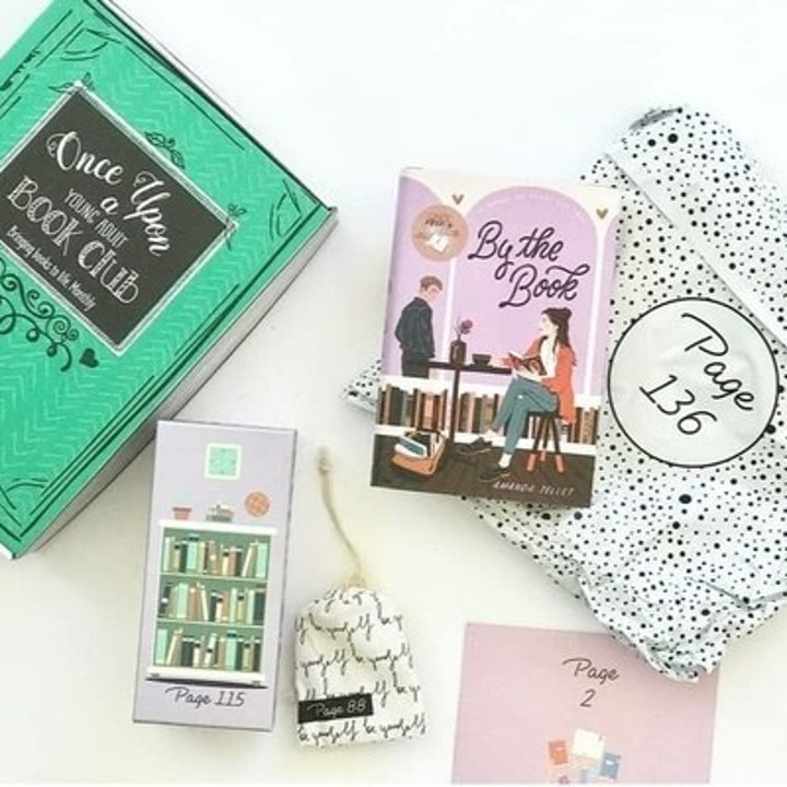 a book and bookish goodies