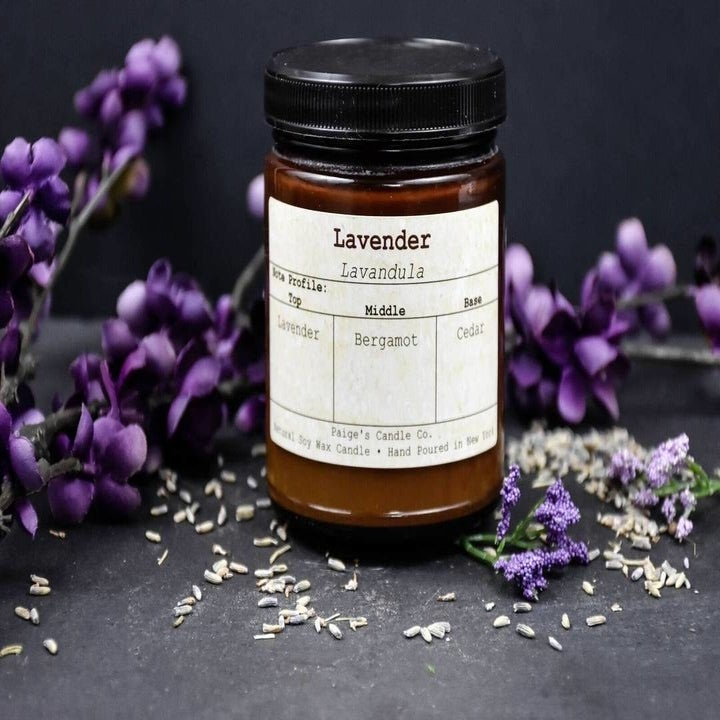 the lavender candle