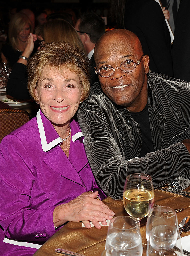 Samuel L. Jackson and Judge Judy at the Annual Women's Guild Cedars-Sinai Gala in 2012