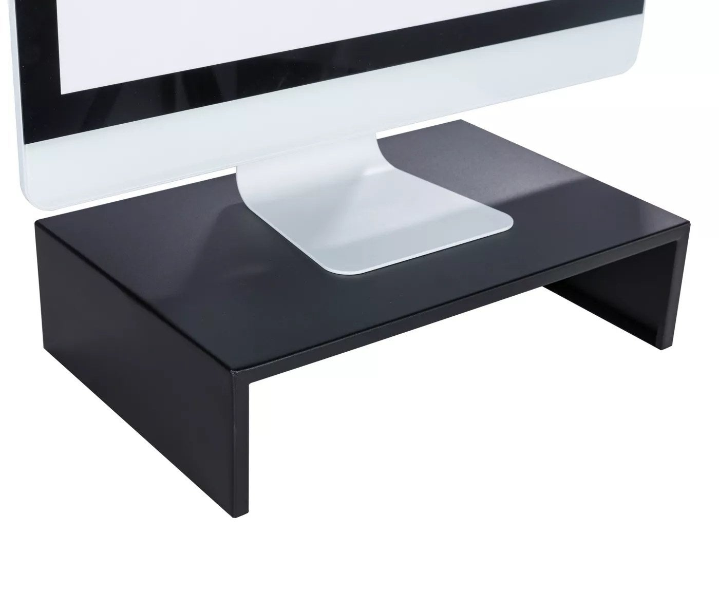 Black monitor stand