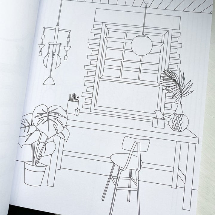 a page from inside the coloring book