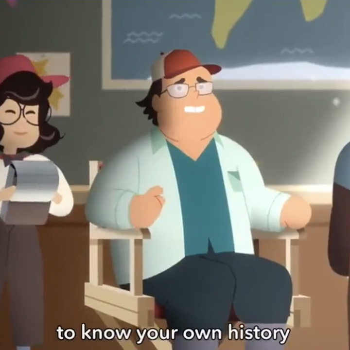 The (animated) director of the PSA looking slightly uncomfortable