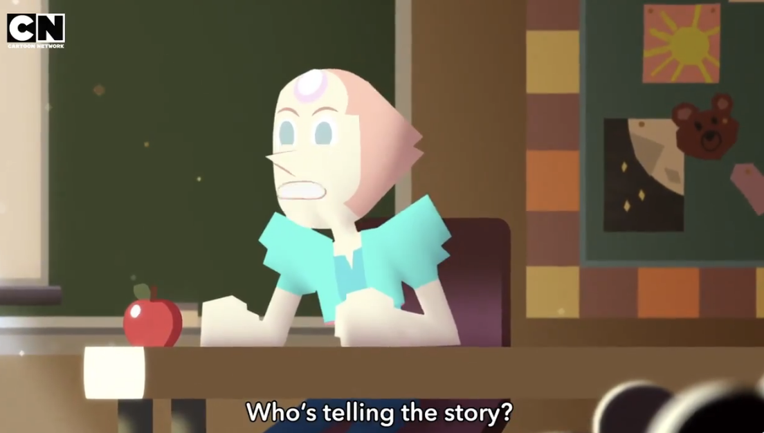 """Pearl asking """"who's telling the story"""""""