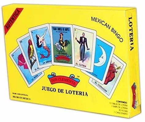 A yellow juego de loteria box
