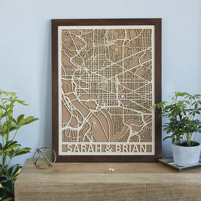 The wood map of a city