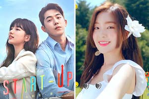 A poster for start up and an image of irene