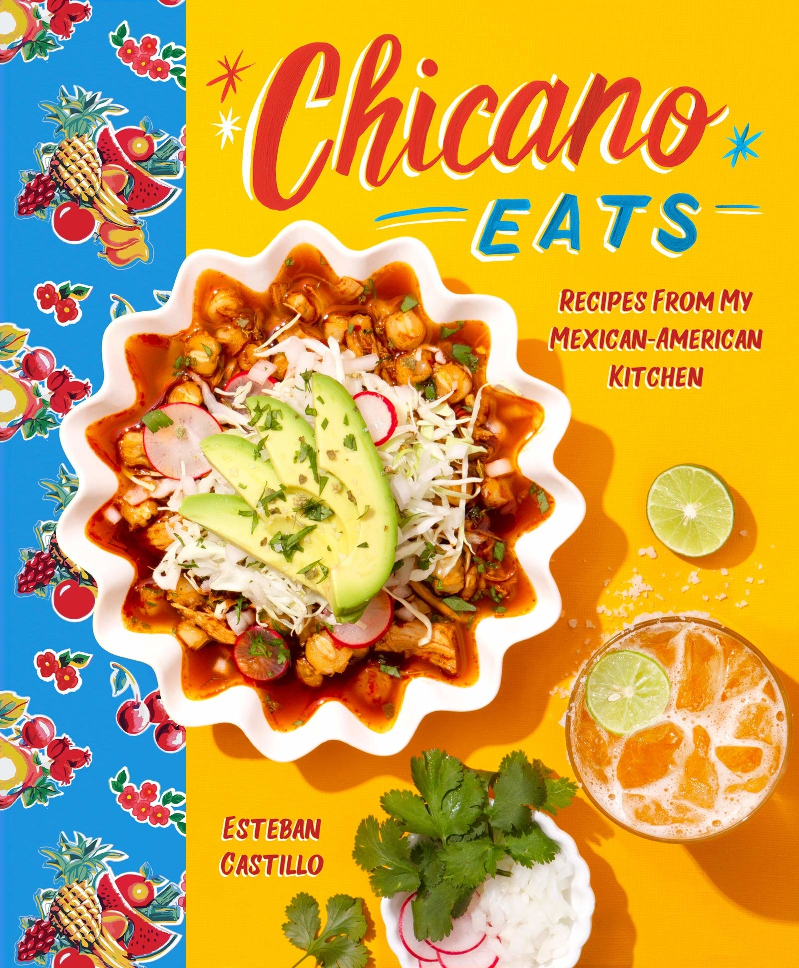 The book cover featuring a bowl of menudo on it