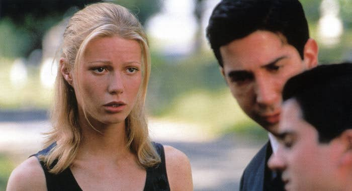 THE PALLBEARER, from left: Gwyneth Paltrow, David Schwimmer, 1996