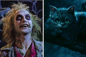 The cheshire cat and beetlejuice
