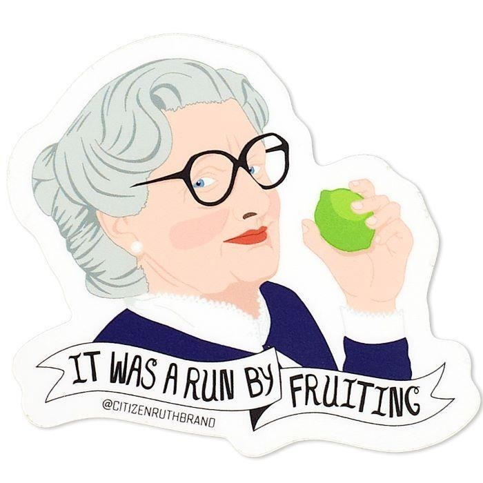 animated sticker of Mrs. Doubtfire holding the lime (from the scene in the film when she throws it at the head of the guy dating her ex-wife and landing it right on his head like a boss)