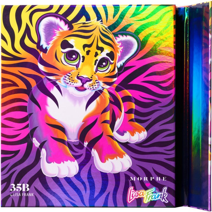 palette cover with a rainbow tiger on it