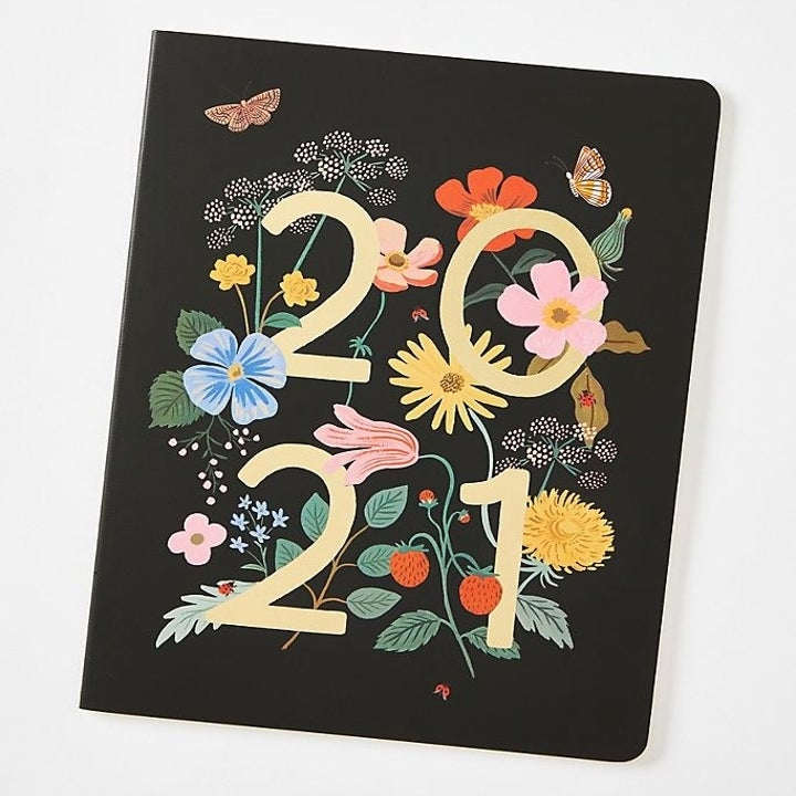 Rifle Paper Co. 2021 planner with colorful floral pattern