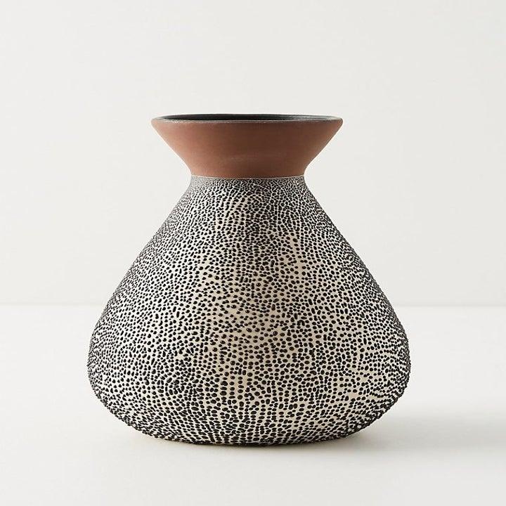 Medium spotted ceramic vase