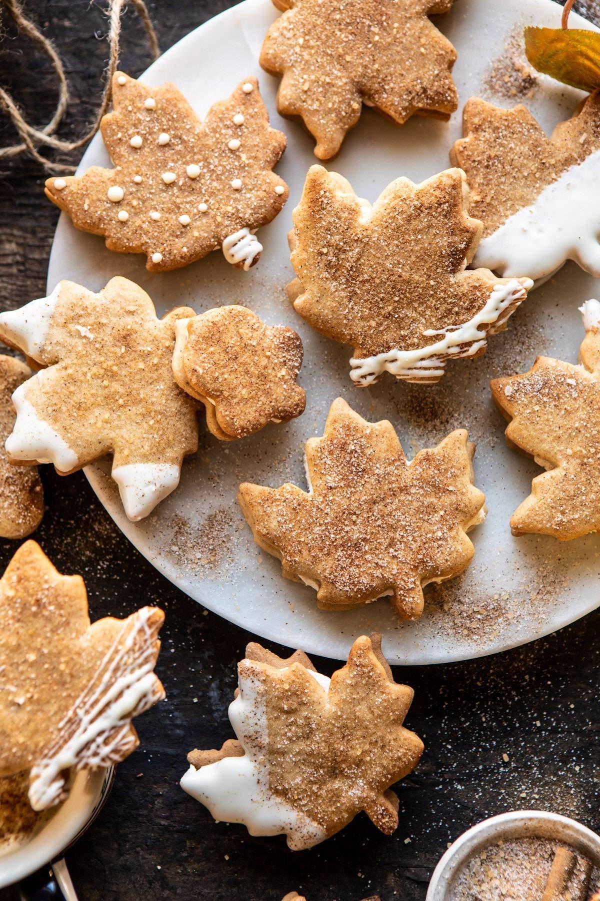 Chai spices maple sugar cookies